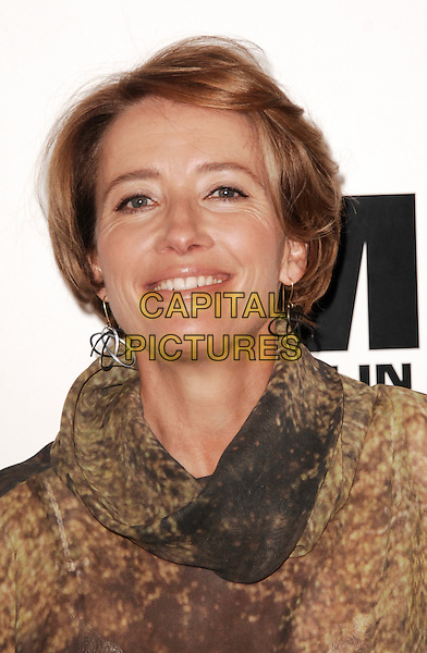 Emma Thompson.The UK photocall for 'Men In Black 3' at the Dorchester Hotel, Park Lane, London, England..16th May 2012.headshot portrait brown black print MIB3 III.CAP/WIZ.© Wizard/Capital Pictures.