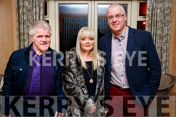 Sean O'Connor (Connolly Park, Tralee) pictured with Lilly Kirby and Brendan Kirby (Banna), at the Lee Strand Social, at Ballygarry House Hotel & Spa, Tralee, on Saturday night last.