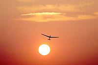 Segelflug, Windenstart, Boberg, Sonnenuntergang, ASK13