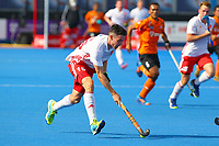 Phil Roper of England in action during the Hockey World League Semi-Final Pool A match between England and Malaysia at the Olympic Park, London, England on 17 June 2017. Photo by Steve McCarthy.