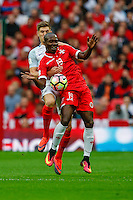 Alfred Effiong of Malta hold up the ball during the FIFA World Cup qualifying match between England and Malta at Wembley Stadium, London, England on 8 October 2016. Photo by David Horn / PRiME Media Images.