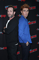NEW YORK, NY - October 07: Luke Perry, KJ Apa, at the CW's Riverdale photo call at New York Comic Con 2018 at the Jacob K. Javits Convention Center in New York City on October 07, 2018 <br /> CAP/MPI/RW<br /> &copy;RW/MPI/Capital Pictures