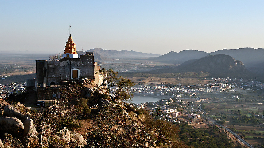 Mountain Temple, pushkar, India