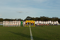 Lakewood Ranch, Fla. - December 9, 2013: 2013 US Soccer U17 Nike International Friendlies. Portugal defeated USMNT U17's 2-1 at the Premier Sports Campus.