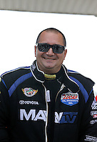 May 11, 2013; Commerce, GA, USA: NHRA top fuel dragster driver Brandon Bernstein during the Southern Nationals at Atlanta Dragway. Mandatory Credit: Mark J. Rebilas-