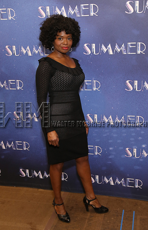 """LaChanze attends the Meet & Greet for """"Summer: The Donna Summer Musical"""" on March 8, 2018 at the New 42nd Street Studios,  in New York City."""