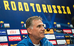 Islamic Republic of Iran coach Carlos Queiroz attends a press conference prior to their 2018 FIFA World Cup Russia Final Qualification Round Group A match against Korea Republic on 30 August 2017, at Paju National Football Center, in Paju, Korea Republic. Photo by Victor Fraile / Power Sport Images