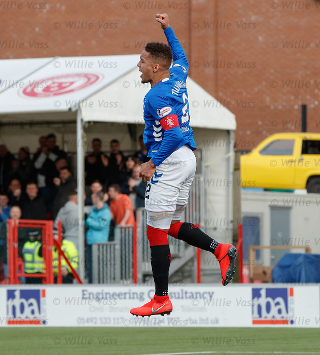 24.02.2019: Hamilton v Rangers: James Tavernier celebrates his goal