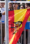 Demonstrator during Military parade because of the Spanish National Holiday. October 12, 2019.. (ALTERPHOTOS/ Francis Gonzalez)