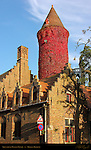 Gruuthuse Museum Tower at Sunset 13th century, Bruges, Brugge, Belgium