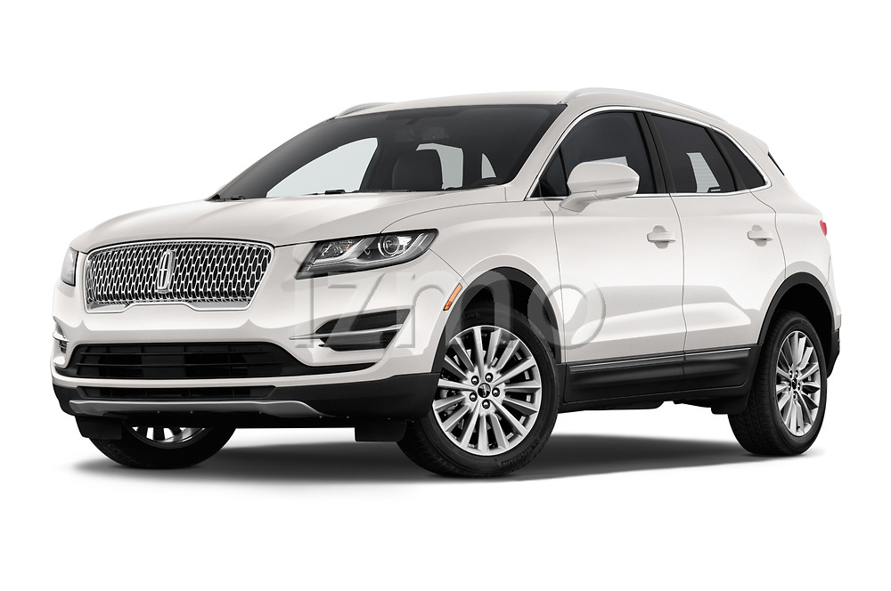 Stock pictures of low aggressive front three quarter view of a 2019 Lincoln MKC Base 5 Door SUV