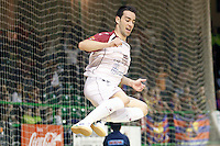 Caja Segovia's Jose Carlos Lopez celebrates goal during Spanish National Futsal League match.November 24,2012. (ALTERPHOTOS/Acero) /NortePhoto