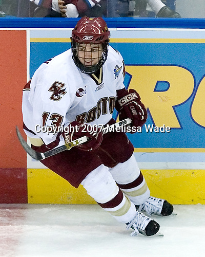 Pat Gannon (Boston College - Arlington, MA) - The Boston College Eagles defeated the University of North Dakota Fighting Sioux 6-4 in their 2007 Frozen Four semi-final on Thursday, April 5, 2007, at the Scottrade Center in St. Louis, Missouri.