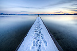 Lake Tahoe Snowy Dock Vanishing Point, Spring 2011