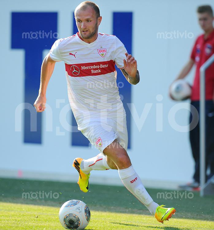 FUSSBALL  1. Bundesliga   2013/2014   Testspiel  FC Heidenheim - VfB Stuttgart   13.07.2013 Konstantin Rausch (VfB Stuttgart) am Ball