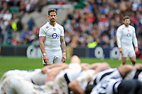 Danny Cipriani of England watches a scrum. International match between England and the Barbarians on May 31, 2015 at Twickenham Stadium in London, England. Photo by: Patrick Khachfe / Onside Images