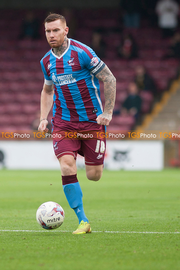 Jack King of Scunthorpe Utd<br /> during Scunthorpe United vs Fleetwood Town, Sky Bet League 1 Football at Glanford Park, Scunthorpe, England on 03/10/2015