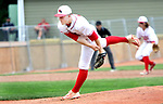 MIDDLETOWN CT. 09 June 2018-060918SV11- #16 Jack Drewry of Wolcott pitches against Seymour in the 1st inning during the CIAC Class M baseball championship in Middletown Saturday. <br /> Steven Valenti Republican-American