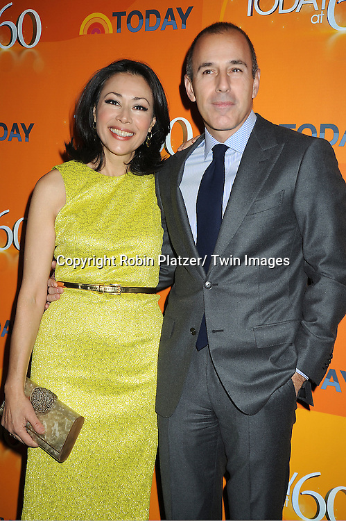 Ann Curry and Matt Lauer attend The Today Show's 60th Anniversary celebration party on January 12, 2012 at The Edison Ballroom in New York City.
