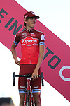 Ilnur Zakarin Team Katusha Alpecin at the Team Presentation in Alghero, Sardinia for the 100th edition of the Giro d'Italia 2017, Sardinia, Italy. 4th May 2017.<br /> Picture: Eoin Clarke | Cyclefile<br /> <br /> <br /> All photos usage must carry mandatory copyright credit (&copy; Cyclefile | Eoin Clarke)