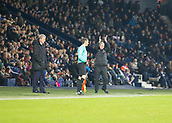 2nd December 2017, The Hawthorns, West Bromwich, England; EPL Premier League football, West Bromwich Albion versus Crystal Palace; West Bromwich Albion Head Coach Alan Pardew clapping his hands above his head to thank the supporters during the match