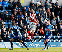 Fleetwood Town's Paddy Madden heads the ball <br /> <br /> Photographer Andrew Kearns/CameraSport<br /> <br /> The EFL Sky Bet League One - Wycombe Wanderers v Fleetwood Town - Saturday 4th May 2019 - Adams Park - Wycombe<br /> <br /> World Copyright © 2019 CameraSport. All rights reserved. 43 Linden Ave. Countesthorpe. Leicester. England. LE8 5PG - Tel: +44 (0) 116 277 4147 - admin@camerasport.com - www.camerasport.com