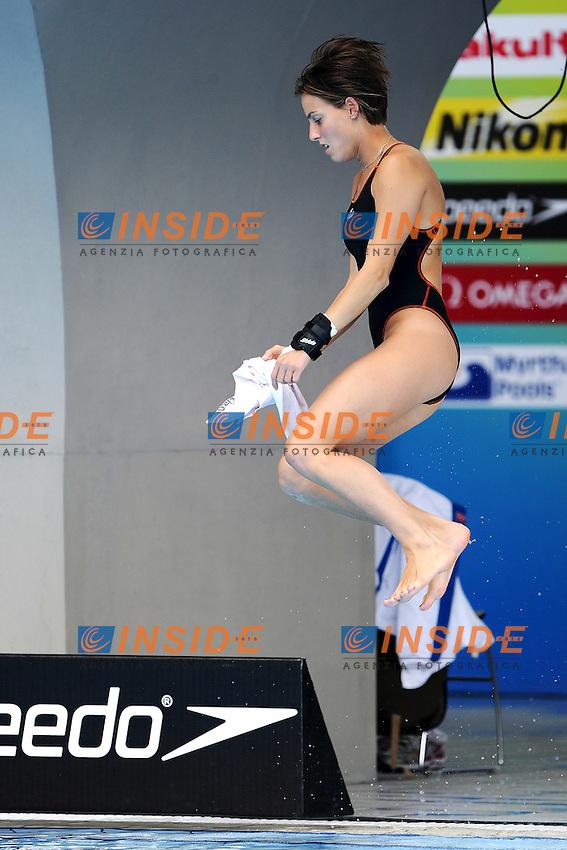 Tania CAGNOTTO Italy Bronze medal con il padre Giorgio.Women's 1m Springboard - Trampolino 1m Donne..Shanghai 19/7/2011 .14th FINA World Championships.Foto Andrea Staccioli Insidefoto