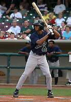 August 30, 2003:  Kennard Bibbs of the Beloit Snappers, Class-A affiliate of the Milwaukee Brewers, during a Midwest League game at Fifth Third Field in Dayton, OH.  Photo by:  Mike Janes/Four Seam Images