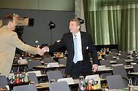 DFB-Generalsekretär und neuer DFB-Präsident Wolfgang Niersbach im Plenarsaal