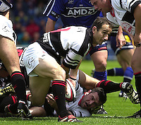 26/05/2002.Sport -Rugby Union - Parker Pen Shield Final.Sale vs Pontypridd.. Pontypridd captain - Paul John   [Mandatory Credit, Peter Spurier/ Intersport Images].