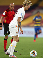 Roma s Nicolo Zaniolo in action during the Italian Serie A football match between Roma and Parma at Rome's Olympic stadium, July 8, 2020.<br /> UPDATE IMAGES PRESS/Isabella Bonotto