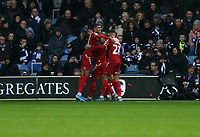 Middlesbrough celebrating during Queens Park Rangers vs Middlesbrough, Sky Bet EFL Championship Football at Loftus Road Stadium on 9th November 2019