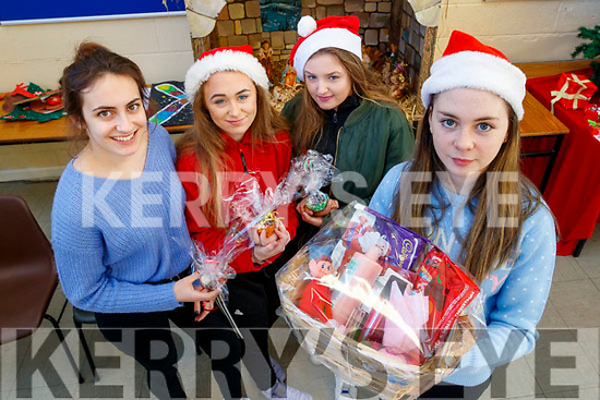 Victoria Wielogorska, Lauren Scannell, Katie Duffy and Valerie O'Sullivan, students attending Presentation Secondary School, Tralee, Leaving Certificate Vocational Programme, who held a Christmas Market fundraiser on Friday morning last.