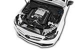 Car stock 2017 Mercedes Benz C Class AMG 63 S 2 Door Convertible engine high angle detail view