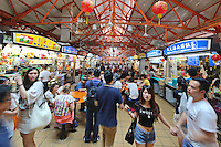 Maxwell Food Centre in Singapore.  Located in the heart of Chinatown, Maxwell Road Hawker Centre has over 100 stalls, providing one of the biggest varieties of local food in Singapore