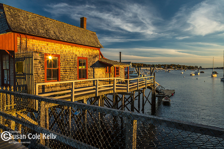 Boathouse in Boothbay Harbor, Maine, USA