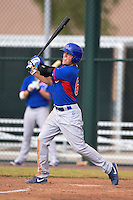 Chicago Cubs designated hitter Andrew Ely (68) during an Instructional League intersquad game on October 9, 2014 at Cubs Park Complex in Mesa, Arizona.  (Mike Janes/Four Seam Images)