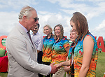 HRH Prince Charles chats to Team Wales ambassador Frankie Jones <br /> <br /> *This image must be credited to Ian Cook Sportingwales and can only be used in conjunction with this event only*<br /> <br /> 21st Commonwealth Games  -  Day 1- 05\04\2018 - Kurrawa Surf Club - Gold Coast City - Australia