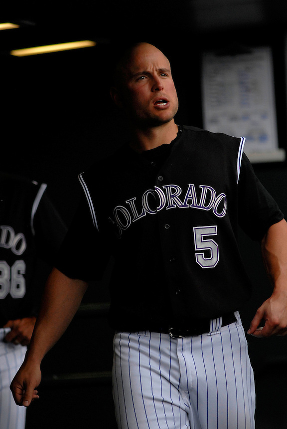 22 June 2008: Colorado Rockies outfielder Matt Holliday during a game against the New York Mets. The Mets defeated the Rockies 3-1 at Coors Field in Denver, Colorado on June 22, 2008.