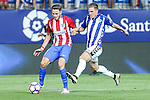Atletico de Madrid's Saul Iniguez and Deportivo Alaves's Krsticic during the match of La Liga Santander between Atletico de Madrid and Deportivo Alaves at Vicente Calderon Stadium. August 21, 2016. (ALTERPHOTOS/Rodrigo Jimenez)