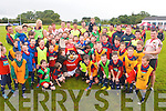 The Munster teams visit to Tralee Rugby club on Friday for an open training session which ran in conjunction with the Munster Rugby Summer Camp.  Pictured are Munster Rugby players and the summer camp participants after playing a game together.