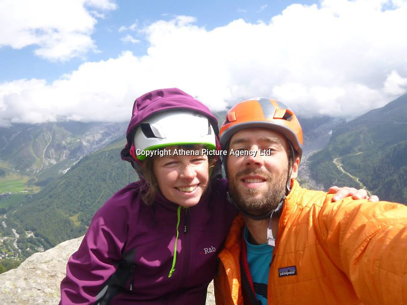"Pictured: Andrew and Lucy Foster during one of their previous trips.<br /> Re: A British climber was killed and his wife seriously injured living their ""big dream"" on one of the toughest rock faces in the world.<br /> Andrew Foster, 32, and his wife Lucy, 28, were buried under tons of falling rock as they prepared for their climb.<br /> Experienced climber Andrew was killed but Lucy was rescued and airlifted to hospital where she was in a ""critical"" condition.<br /> The couple were married a year ago and the three-week trip to the Yosemite National Park in California was part of their first wedding anniversary celebrations.<br /> They had ben training for the expedition for six months and flew off to the States on September 11 along with other members of their climbing club.<br /> Andrew and Lucy, from Cardiff, were scouting out a descent of the iconic rockface El Capitan when a ""sheet"" of granite fell on them.<br /> Rangers on the national park beauty spot said a piece of granite 40 metres by 20 metres fell from a height of 200 metres while the couple were below.<br /> Patagonia, a company owned by Andrew Foster has confirmed the incident."