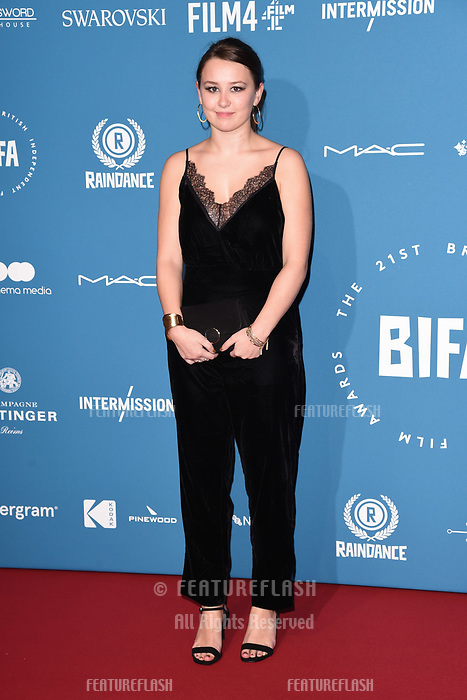 LONDON, UK. December 02, 2018: Liv Hill at the British Independent Film Awards 2018 at Old Billingsgate, London.<br /> Picture: Steve Vas/Featureflash