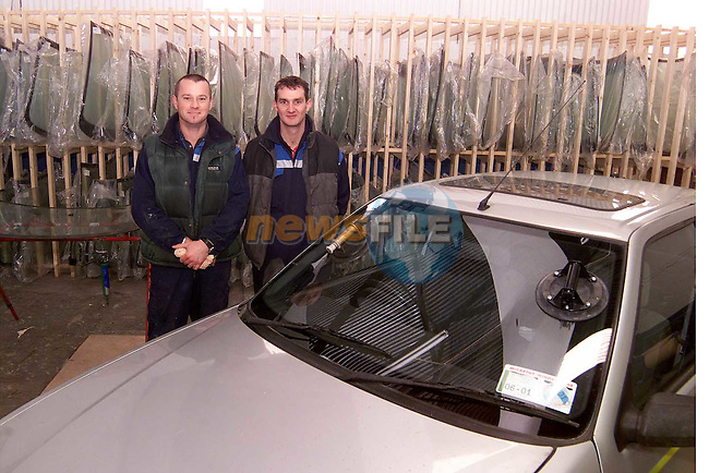 Gerry McCarthy and Paul McArdle of Drogheda Windscreen Centre..Picture: Paul Mohan/Newsfile