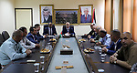 Palestinian Prime Minister Rami Hamdallah meets with security chiefs in the West Bank city of Salfit on July 22, 2017. Photo by Prime Minister Office