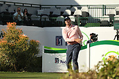 January 31st 2019, Scotsdale, Arizona, USA; Matt Kuchar watches his drive on the 16th hole during the first round of the Waste Management Phoenix Open