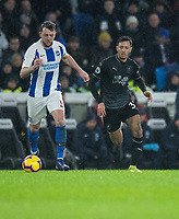 Brighton & Hove Albion's Dale Stephens (left) under pressure from Burnley's Dwight McNeil (right) <br /> <br /> Photographer David Horton/CameraSport<br /> <br /> The Premier League - Brighton and Hove Albion v Burnley - Saturday 9th February 2019 - The Amex Stadium - Brighton<br /> <br /> World Copyright © 2019 CameraSport. All rights reserved. 43 Linden Ave. Countesthorpe. Leicester. England. LE8 5PG - Tel: +44 (0) 116 277 4147 - admin@camerasport.com - www.camerasport.com