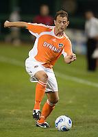 Brad Davis holds the ball. D.C. United defeated the Houston Dynamo 2-0 at RFK Stadium in Washington, D.C. on April 15, 2006