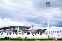 The excercise arena with the fabulous backdrop of the Main Stadium at 2017 GER-CHIO Aachen Weltfest des Pferdesports. Thursday 20 July. Copyright Photo: Libby Law Photography