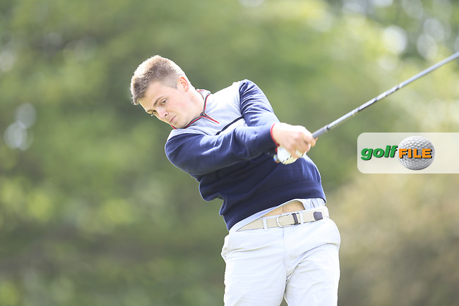 Alec Myles (Newlands) during the 1st round of the East of Ireland championship, Co Louth Golf Club, Baltray, Co Louth, Ireland. 02/06/2017<br /> Picture: Golffile | Fran Caffrey<br /> <br /> <br /> All photo usage must carry mandatory copyright credit (&copy; Golffile | Fran Caffrey)